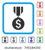 dollar medal icon. flat grey...