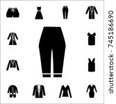 woman trousers icon. set of... | Shutterstock .eps vector #745186690