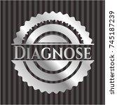diagnose silvery shiny emblem | Shutterstock .eps vector #745187239