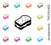 isolated sandwich icon. toast... | Shutterstock .eps vector #745191403