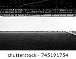 urban alleyway view looking up. ... | Shutterstock . vector #745191754