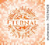 eternal orange mosaic emblem | Shutterstock .eps vector #745196428