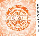 radiography abstract orange... | Shutterstock .eps vector #745196878