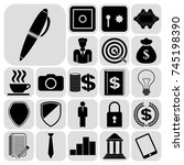 set of 22 business icons  high...   Shutterstock .eps vector #745198390