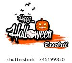 banner happy halloween and... | Shutterstock .eps vector #745199350