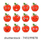 fruit character design in... | Shutterstock .eps vector #745199878