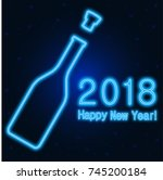happy new year 2018 greeting... | Shutterstock .eps vector #745200184