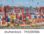 sea containers | Shutterstock . vector #745200586