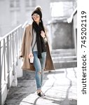 all fashion outfit details.... | Shutterstock . vector #745202119