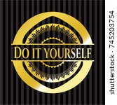 do it yourself shiny badge | Shutterstock .eps vector #745203754