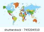 color world map | Shutterstock .eps vector #745204510
