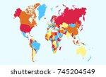 color world map   Shutterstock .eps vector #745204549