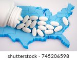 white prescription... | Shutterstock . vector #745206598