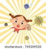 exterminate pathogen | Shutterstock .eps vector #745209520