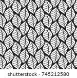 vector illustration of tropical ... | Shutterstock .eps vector #745212580