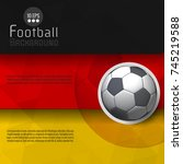 abstract soccer ball graphic... | Shutterstock .eps vector #745219588