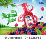 natural berry blend juice ads