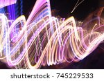 lights in bulb motion texture... | Shutterstock . vector #745229533