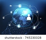 abstract technology concept... | Shutterstock .eps vector #745230328