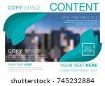 presentation layout design... | Shutterstock .eps vector #745232884