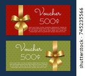 voucher on 500  set of posters... | Shutterstock .eps vector #745235566