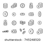 simple collection of coin... | Shutterstock .eps vector #745248520