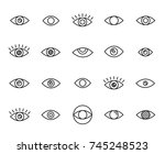 premium set of eye line icons.... | Shutterstock .eps vector #745248523