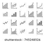 set of premium growth icons in... | Shutterstock .eps vector #745248526