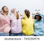 a diverse group of women having ... | Shutterstock . vector #745250974