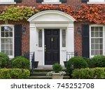 front door with colorful vines... | Shutterstock . vector #745252708