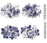 flower set | Shutterstock .eps vector #745253293