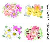 flower set | Shutterstock . vector #745253296