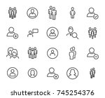 modern outline style people... | Shutterstock .eps vector #745254376