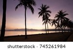 sunrise with foreground of... | Shutterstock . vector #745261984