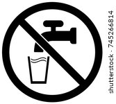 do not drink sign black and... | Shutterstock .eps vector #745266814