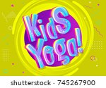 kids yoga vector background in... | Shutterstock .eps vector #745267900