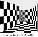 psychedelic 3d corridor ...   Shutterstock .eps vector #745276180