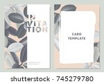 invitation card template design ... | Shutterstock .eps vector #745279780
