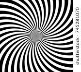 hypnotic swirl lines or vortex... | Shutterstock .eps vector #745281070