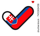 flag of slovakia in the shape...   Shutterstock .eps vector #745283458