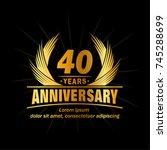 40 years design template....   Shutterstock .eps vector #745288699