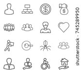 thin line icon set   man ... | Shutterstock .eps vector #745289950