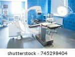 horizontal view of modern... | Shutterstock . vector #745298404