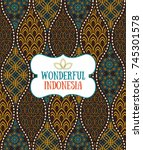 seamless pattern in indonesian... | Shutterstock .eps vector #745301578