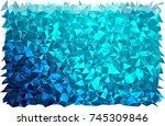 dark blue vector abstract... | Shutterstock .eps vector #745309846