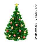 3d illustration of christmas... | Shutterstock . vector #745310470