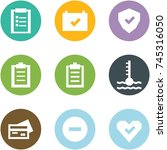 origami corner style icon set   ... | Shutterstock .eps vector #745316050