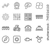 thin line icon set   graph ... | Shutterstock .eps vector #745316110