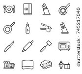 thin line icon set   cafe ... | Shutterstock .eps vector #745317040