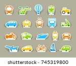 simple images of types of... | Shutterstock .eps vector #745319800